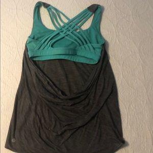Lulu Lemon strappy sports bra / work out shirt